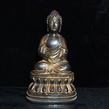 "9"" Chinese old antique bronze handmade Tathagata Buddha statue"