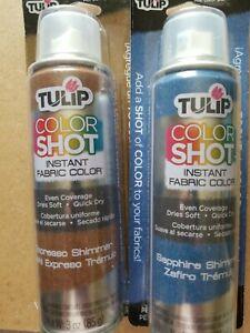 2 Tulip 3 Oz Shot Espresso-sapphire Shimmer Instant Fabric Color Quick Dry Sp.A7