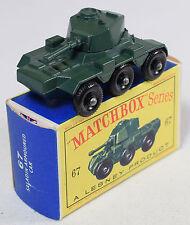 MATCHBOX #67 SALADIN ARMOURED CAR NEAR MINT W/ NEAR MINT BOX