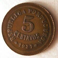 1927 PORTUGAL 5 CENTAVOS - Excellent VINTAGE Coin - VINTAGE BIN #77