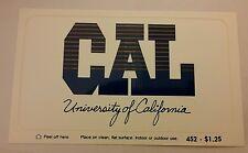 Vintage University of California decal, throwback postcard + decal UC Berkley