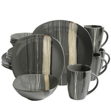 16 Piece Dinnerware Set Kitchen Dinner Serving Dishes Home Plates Kit Stoneware