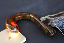 1920s CHERRY AMBER BAKELITE CATALIN marbled translucent Umbrella Handle Snake