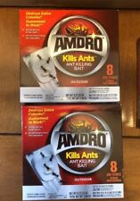 Amdro Ant Control Bait *2 PACK* 16 TOTAL BAITS Kills Ants Indoor Outdoor NEW LOT