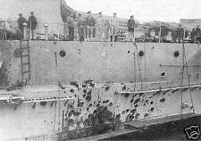 """Russian Navy Warship Evstafiy Damaged 1914 World War 1 6x4"""" Reprint Photo 1"""