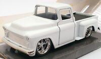 Jada 13cm Long Model Car 24702 - 1955 Chevy Stepside - White