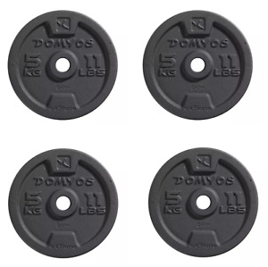 Domyos 4 x 5kg Cast Iron Weight Plates [20kg Total] Brand New Fast delivery..]]]