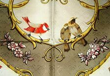 Vintage Beautiful HERMES LA CLE des CHAMPS scarf FRANCE 100% SILK foulard carre