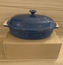Le Creuset Pentola ovale in gres con coperchio - 30cm (Blu)