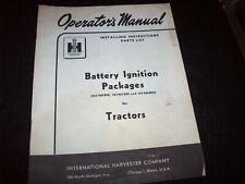Battery Ignition Package Manual Farmall Super A AV B H HV MV W-4 O-4 W-6 Tractor