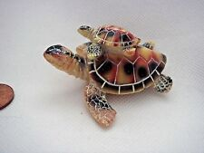 Ceramic Resin Mother & Baby Turtle Ornament Keepsake Collectible Gift Charm