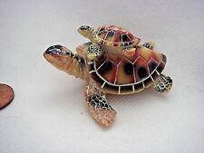 Céramique résine mother & baby tortue ornement keepsake collectible cadeau charme
