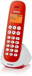 Telefono Cordless Brondi Adara Rosso/Bianco Retroilluminato Fisso Casa