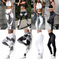 Women Yoga Leggings Fitness Gym Exercise Running Jogging Pants Stretch Trousers