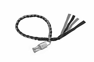 """Motorcycle Leather Get Back Whip 36"""" and 42"""" Black and Gray By Tennessee Leather"""