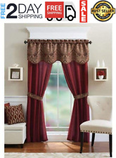 """Window Curtains 5 Piece Set 54"""" x 84"""" Long Curtain Panels Drapes for Living Room"""
