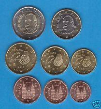 manueduc   ESPAÑA 2014   Las Ultimas de JUAN CARLO 8 Monedas  , Sin Circular