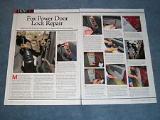 1979-'93 Ford Mustang Fox Body Power Door Lock Repair Article
