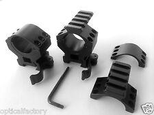 "MEDIUM 30 mm/1"" Quick Detach Qd Rifle Scope Rings Mount Set+Picatinny Top 30mm"