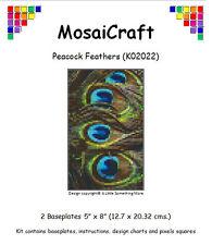 MosaiCraft Pixel Craft Mosaic Art Kit 'Peacock Feathers' Pixelhobby