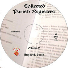 360+ registres paroissiaux Genealogy Records vol 2 Sud de l'Angleterre sur DVD