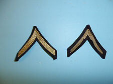 b3052 WW 2 US  Army Private First Class PFC Chevrons Silver pair