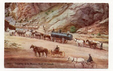 EARLY CO MINING ANIMAL DRAWN FREIGHTING UNUSED OLD POSTCARD PC6381