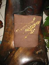 Reddish Brown with Gold detail Passport Bag