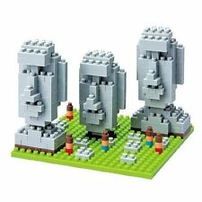 NANOBLOCK NBH.009 - MOAI STATUES on EASTER ISLAND - SIGHTS TO SEE 320 Pcs. - NEW