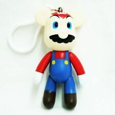 "Popobe Bear Toy Action Figure 3""  Mario keychain"