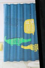 Kids Pillowfort Alligator Fabric Shower Curtain 72x72 nwop #224