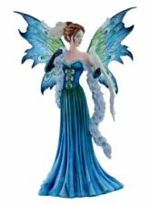 More details for large fairy and white peacock  companion sculpture statue mythical creatures