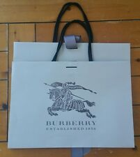 """2 Authentic Burberry Gift Shopping Bags Beige Large Size 11.75"""" x 16.5"""" x 4.5"""""""
