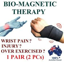 1 PAIR - MAGNETIC WRIST GUARD BAND BRACE CARPAL TUNNEL RSI PAIN RELIEF GYM STRAP