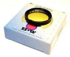B+W 022 Yellow Filter - Bayonet 1 Fit - For Black & White Photography - Boxed