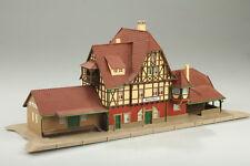 H0 Gare Neuffen Vollmer 22625 Brauchbar collé mais poussière / boue / défaut