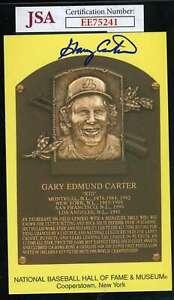 Gary Carter Jsa Coa Autograph Gold Hof Plaque Signed