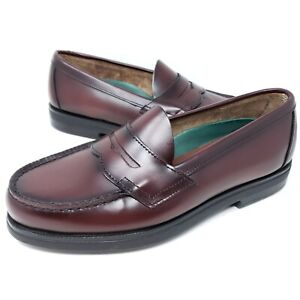 Red Wing Shoes Mens Penny Loafers Slip On Burgundy Leather Dress Shoes 8650 9.5D