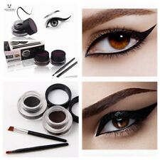 2 Colors Miss Rose Long Lasting Waterproof Black & Brown Eyeliner Gel Brush Set