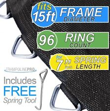 "159"" Trampoline Mat for 15' Round Frames Having 96 Rings and 7.0"" Springs"