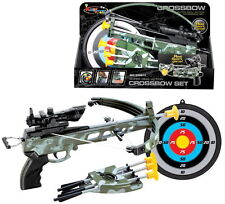 British Army Crossbow Set / Cross Bow Shooting Game with Target Arrows Kids Boys