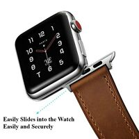 Apple Watch Band Genuine Leather Strap for Series 5 4 3 2 38/42mm 40/44mm