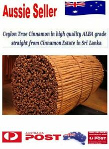 High Quality Pure ALBA GRADE Organic True Ceylon CINNAMON Sticks Quills SriLanka