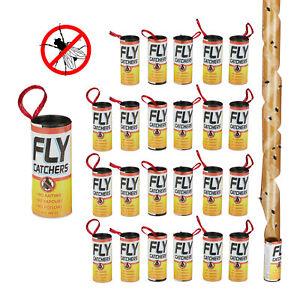 Fliegenfänger Leimrollen Fly Trap Fliegenfalle Klebefalle Insektenköder 24er Set