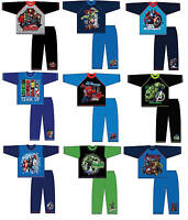 BOYS KIDS MARVEL AVENGERS SPIDERMAN HULK CAPTAIN LONG PYJAMAS PJS AGE 3-10