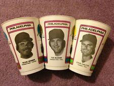 7-11 Slurpee Cups MLB 1978 Richie Hebner, Tug McGraw, Steve Carlton Philadelphia