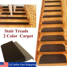 1 13Pcs Set Non Slip Carpet Stair Tread Mats Staircase Step Rug Protection  Cover