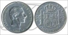 España - Alfonso XII- Año: 1880 - numero 00103 - MBC 50 centavos de peso 1880 Ma