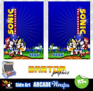 Sonic arcade Bartop Sides Arcade Artwork Overlay Graphic Stickers