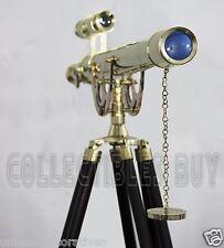 Vintage Solid Brass Adjustable Tripod Maritime Brass Telescope Master Harbor